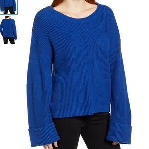 NWT Caslon Button Shoulder Sweater